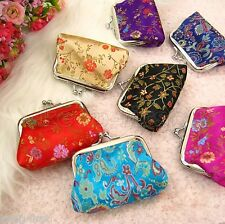 5pcs Chinese Mix Color Embroidered Silk Jewelry Pouch/Coin Purse Clutch Bags