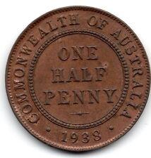 1938 AUSTRALIAN HALFPENNY (1/2d) - *** UNCIRCULATED CONDITION***