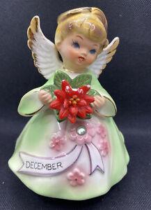 Vintage Lefton christmas angel musical December figurine