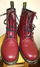 Dr Martens Boots The Original Burgandy Cherry Maroon High Tops DOCS Mens Size 13