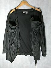 MM6 Margiela 2011 Deconstructed Goat Leather Jacket Size 40