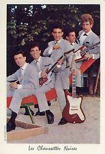 LES CHAUSSETTES NOIRES EDDY MITCHELL 60s CARTE PHOTO CARD VINTAGE #1