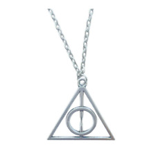 NEW Silver Harry Potter Deathly Hallows Charm Pendant Chain Neckace