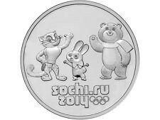 Rusia 25 rublos  2012 - Sochi 2014 MASCOTAS DE LOS JUEGOS  - Rusia - Russland