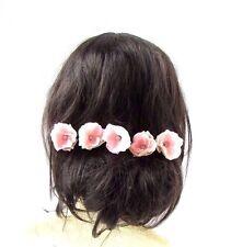 5 x Blush Light Pink Rose Flower Opal Hair Pins Bridal Bridesmaid Wedding 2908