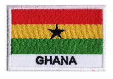Ecusson à coudre patch brodé patche drapeau GHANA 70 x 45 mm pays monde