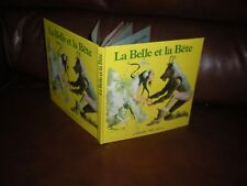 LA BELLE ET LA BETE - LIVRE ANIME MAXI-RELIEF STYLE POP-UP EDITIONS ARTIA 1989