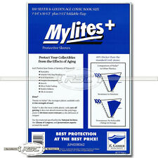 100 - Mylites+ Silver & Golden Age 1.4-Mil Mylar Comic Bags by E. Gerber - 775M+