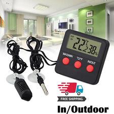 Indoor/Outdoor Digital Thermometer Hygrometer Temperature Humidity Tester Gauge