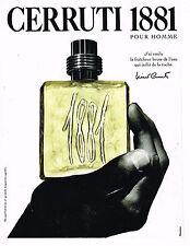 PUBLICITE ADVERTISING 074  1994  CERRUTI 1881  parfum pour homme