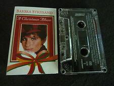 BARBRA STREISAND A CHRISTMAS ALBUM RARE CASSETTE TAPE!