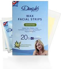 """Dimples Cera Depilatoria Facial Tiras"""" 10 Doble Tiras """"Libre P&P"""