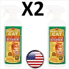 2 Count Messy Pet Cat 4 in 1 Training Deterrent Natural Odor Safe Nontoxic New