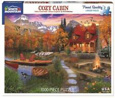 WHITE MOUNTAIN JIGSAW PUZZLE COZY CABIN DAVID MACLEAN AUTUMN 1000 PCS #1269
