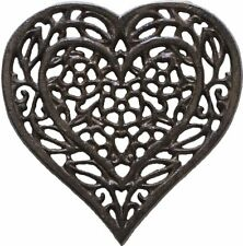 Cast Iron Heart Trivet | Decorative Cast Iron Trivet For Kitchen Or Dining Table