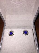 Lagos Blue Maya Circle Earrings