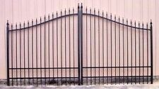 Veterans Discount! Driveway Gate 11 or 12' Wd Steel Wrought Iron Style Security