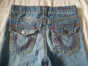 Men's TRUE RELIGION RICKY  Relaxed STRAIGHT DISTRESS Denim Jeans 31 x 33