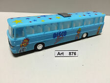 I.m.u. Setra S 150 H, discoteca autobus, autocorriere, colore blu chiaro, scala 1:87