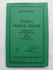 Stuart Marine Engine R3 MC & R3M Instruction Book