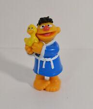 "1997 Rubber Ducky Bathtime Ernie 2.5"" Tyco PVC Action Figure Sesame Street"