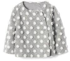 Baby Gap Girl Cozy Sherpa Polka Dot Jacket Coat Outerwear Gray 12-18 Months