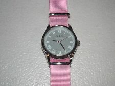 Saks Fifth Avenue Blue Brand Watch Grey Face Pink Band STFL101
