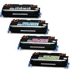 4Pk HP Color LaserJet 4600 4650 BLACK CYAN MAGENTA YELLOW toner cartridge set