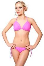 Ropa de baño de mujer de color principal rosa Copa B de poliamida