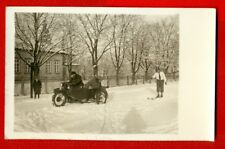 MOTORCYCLE WITH SIDECAR AND MEN VINTAGE PHOTO POSTCARD 16
