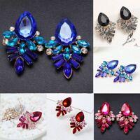 Fashion Women Crystal Stone Earrings Rhinestone Piercing Ear Stud Jewelry Gift