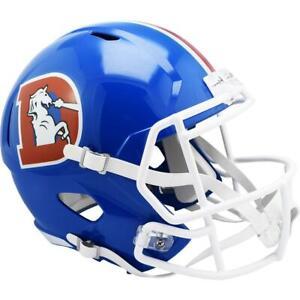 DENVER BRONCOS 1975-96 Riddell Throwback Replica Football Helmet
