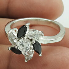 Zirconia Gemstone Ring Size 9 X54 925 Fine Silver Jewelry Marquise Shape Cubic