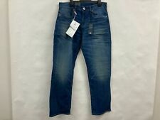 NEW G-star Raw 3301 Relaxed Worker Blue stretch denim jeans Mens Sz 31  RRP$160