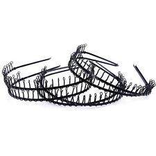 6 pcs Fashion Women Men Soccer Sports Headband Black Metal Hair Head Band New
