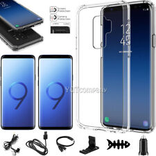 For Samsung Galaxy S9 Plus Clear Case Cover With Tempered Glass Screen Protector