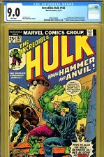 Incredible Hulk #182 CGC GRADED 9.0 - Wolverine 1st page - 1st Hammer and Anvil