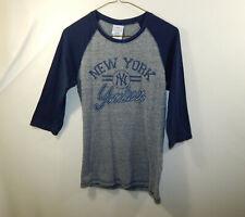 New York Yankees MLB Baseball Short Sleeve Ringer Shirt YOUTH MEDIUM M