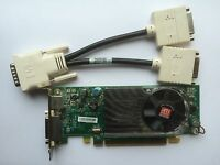 SFF DUAL DELL Y104D RADEON HD 3450 256MB PCIE TV-OUT WINDOWS 8 WITH DVI SPLITTER