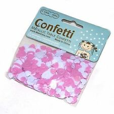 Baby Pink & White Heart Mix Table Scatter Confetti