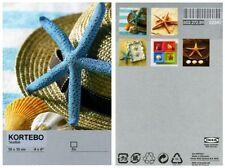 "Ikea Kortebo Art Cards x 5 - Starfish - Brand New & Sealed - 10x15CM / 4""x6"""