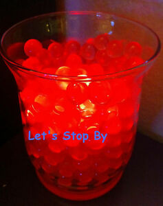 100g Red Water Bead + 12 LED submersible Wedding Home Decoration Vase light