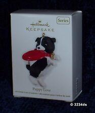 2012 Hallmark Puppy Love Border Collie with Frisbee #22 in Series Ornament