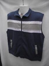 BNWT Mens Sz XL Rivers Brand Smart Mid Blue/Stripe Sleeveless Vest RRP $40
