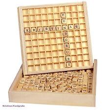 Wörter legen Lernspielzeug aus Holz 145 Buchstaben Einlegebrett und Holzkasten
