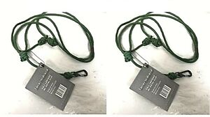 Lot of 2 Banded Tactical Waterfowl Gear Call Lanyard with Metal Clip - 1A_27