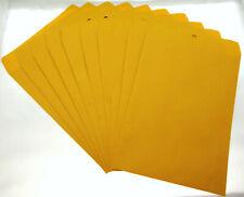 Lot Of 10 9 X 12 Manila Envelopes Clasp Heavy Duty Seal Mailer