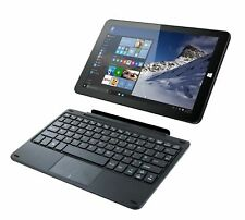 "Linx 1010 Genuine UK QWERTY Keyboard Dock Black For Touch Pad 10"" inch Tablet"