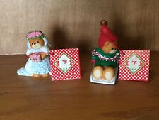 Lucy & Me (Lucy Riggs) Porcelain Teddy Bear Set of 2 figurines