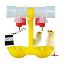 2020 New Automatic Poultry Chicken Feeder Water Bird Fowl Coop Double Drinking